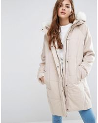 ASOS | Wool Parka With Padded Front | Lyst
