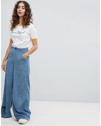 Daisy Street - Wide Leg Pants In Cord - Lyst
