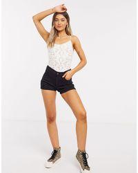Hollister Distressed Denim Shorts - Black