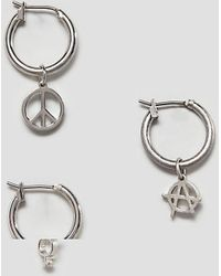 Cheap Monday - Protest Earrings Set In Silver - Lyst