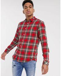 Tom Tailor – Hemd mit Schottenkaros - Rot