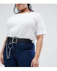 ASOS - Asos Design Curve Chain & Ring Detail Waist & Hip Belt - Lyst
