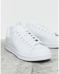 adidas Originals Black Nubuck Leather Stan Smith Sneakers With Strap