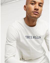 True Religion Лонгслив С Круглым Вырезом -серый