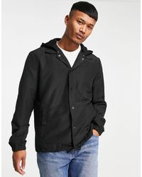 Only & Sons Coach Jacket With Hood - Black