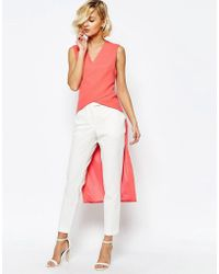 Lavish Alice Crossover Front Maxi Back Top - Pink