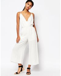 Moon River Raw Edged Jumpsuit - Natural