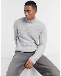 Pull&Bear Crew Neck Sweater - Gray