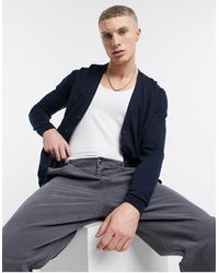 ASOS Knitted Cotton Cardigan - Blue