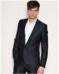 ASOS Asos Super Skinny Fit Metallic Gray Jacket