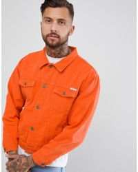 Liquor N Poker - Oversized Denim Jacket In Burnt Orange - Lyst