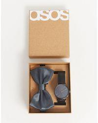 ASOS Cadeauhorloge Met Vlinderdasje - Zwart