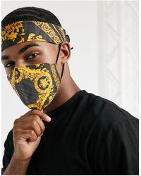 ASOS Ensemble masque en tissu et bandana à imprimé chaînes style baroque - Multicolore