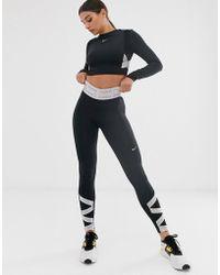Nike Nike Pro Training legging With Taping Detail - Black