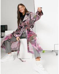 Palones Luna Cross Back Tie Dye Trench - Pink