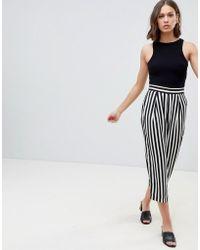 Ichi - Stripe Trousers - Lyst