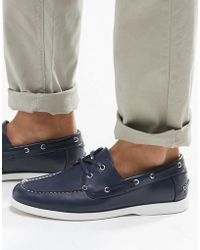 ASOS - Boat Shoes In Navy With White Sole - Lyst