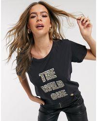 Blend She Camiseta con eslogan wild one Genzo - Multicolor