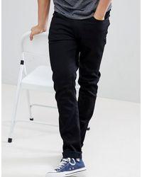 Nudie Jeans Co Lean Dean Slim Tapered Fit Jeans - Black