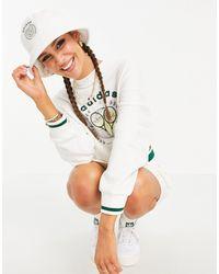 adidas Originals Белая Махровая Панама С Логотипом 'tennis Luxe'-белый