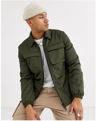 ASOS - Quilted Jacket With Utility Details - Lyst
