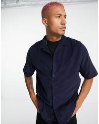 Ban.do Rudie Cord Revere Collar Shirt - Blue