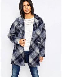 Pepe Jeans - Tattler Checked Wool Mix Coat - Lyst