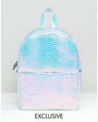 Skinnydip London - Kinnydip Exclusive Holographic Faux Snake Backpack - Lyst