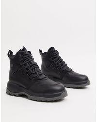Camper Черные Ботинки На Шнуровке И Массивной Подошве -черный