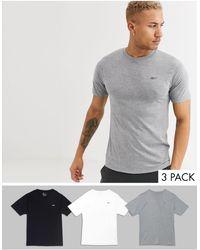 Reebok 3 Pack T-shirts - Grey