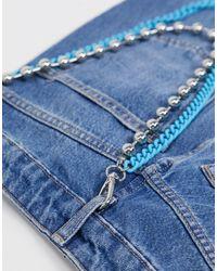 TOPMAN Layered Jean Chain - Blue