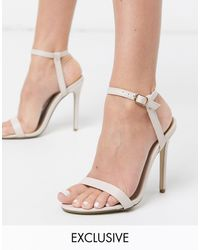 Missguided Barely There Heeled Sandals - Natural