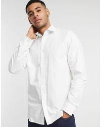 Ben Sherman Белая Оксфордская Рубашка Узкого Кроя -белый