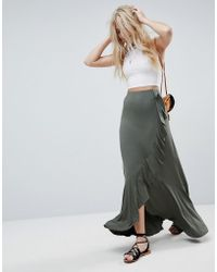 ASOS - Jersey Maxi Skirt With Wrap And Belt Detail - Lyst