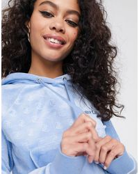 Juicy Couture Hoodie en velours effet relief - Bleu