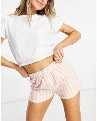 Brave Soul T-shirt And Shorts Pajama Set - Pink