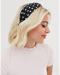 Ashiana Black Spotted Oversized Headband
