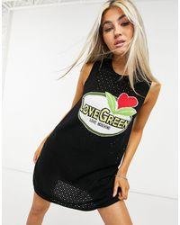 Love Moschino Черное Платье Без Рукавов С Логотипом Abito-черный Цвет