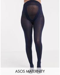 ASOS Asos Design - Maternity - 80 Denier Marineblauwe Panty's Met Nieuwe Verbeterde Pasvorm