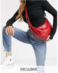 Glamorous Exclusive Sling Tote Bag - Red