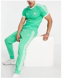 adidas Originals - Зеленые Джоггеры С Тремя Полосками Adicolor-зеленый Цвет - Lyst