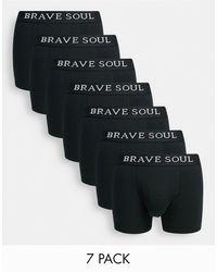 Brave Soul 7 Pack Boxers - Black