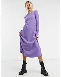 ASOS Super soft midi swing dress with long sleeve - Viola