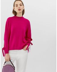 MAX&Co. - Oversized Jumper With Tie Sleeve - Lyst