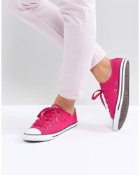 c19395c5c2b758 Lyst - Converse Chuck Taylor All Star Dainty Trainers In Pink in Pink