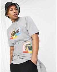 Lacoste - Серая Футболка X Polaroid-серый - Lyst