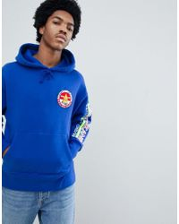 eabb800659c219 Tommy Hilfiger - 90s Sailing Capsule Back And Sleeve Logo Hoodie In Bright  Blue - Lyst