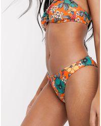 French Connection Floral Bikini Bottom - Orange