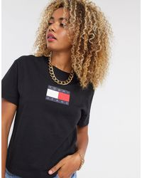 Tommy Hilfiger T-shirt à logo drapeau - Multicolore