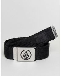 Volcom - Webbing Belt In Black - Lyst
